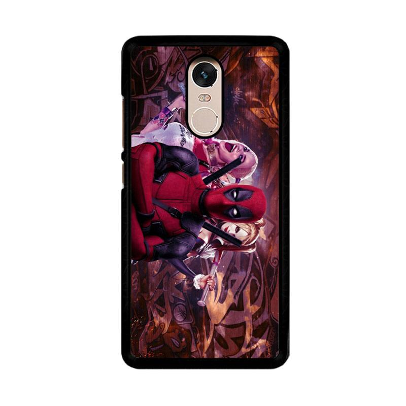 Flazzstore Harley Quinn and Deadpool O0692 Custom Casing for Xiaomi Redmi Note 4 or Note 4X Snapdragon Mediatek