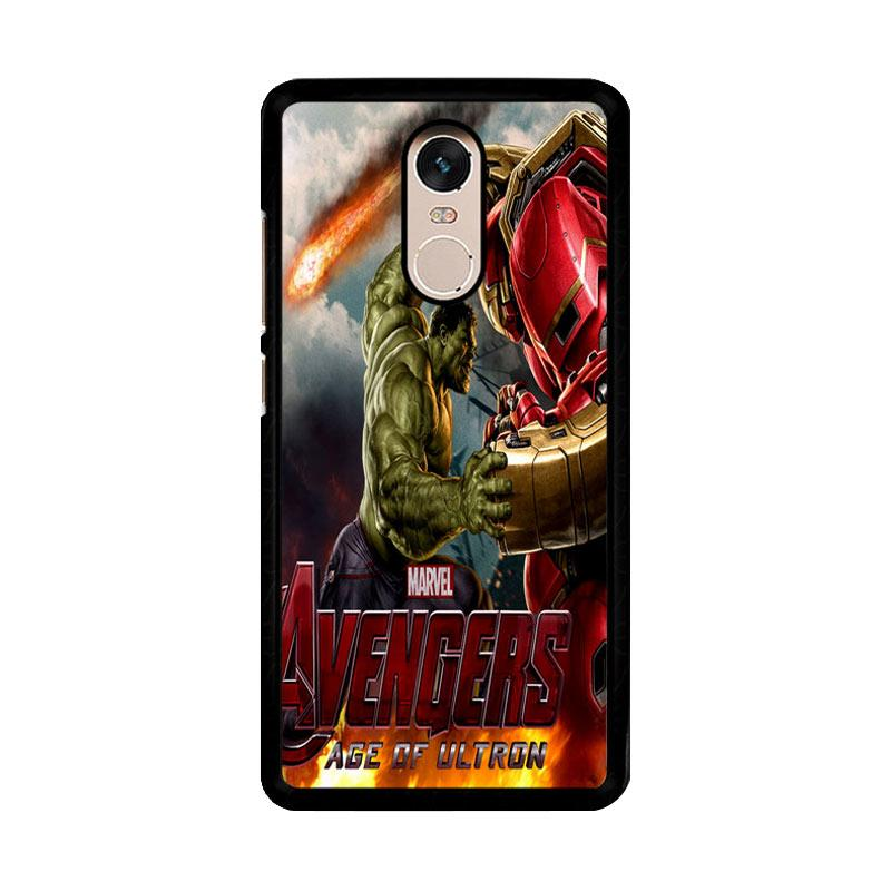 Flazzstore Hulk Vs Hulkbuster Avengers Age Of Ultron Z0742 Custom Casing for Xiaomi Redmi Note 4 or Note 4X Snapdragon Mediatek