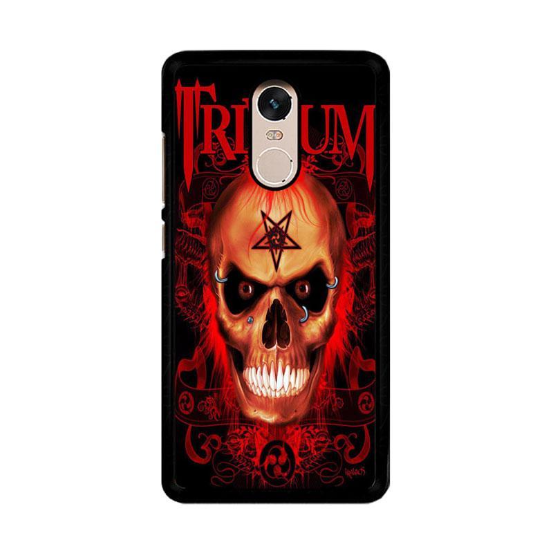 Flazzstore Trivium Red Skull Devil Black Metal Band Logo Z0765 Custom Casing for Xiaomi Redmi Note 4 or Note 4X Snapdragon Mediatek