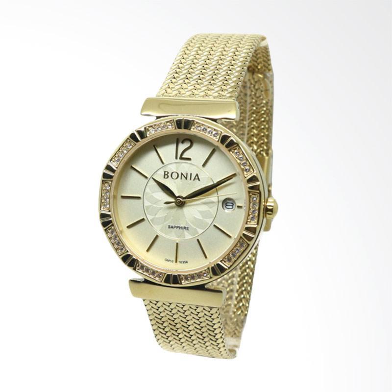Bonia BNB10354-2225S Jam Tangan Wanita - Gold