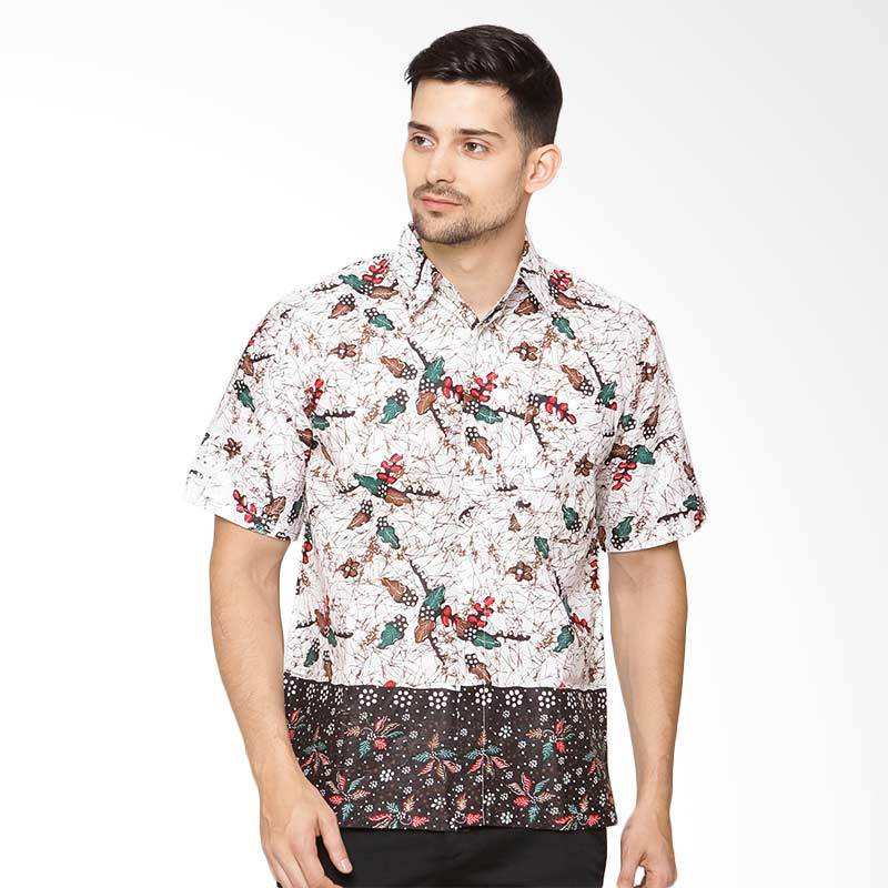 Jening Batik Short Sleeve - White Black [HR-064]