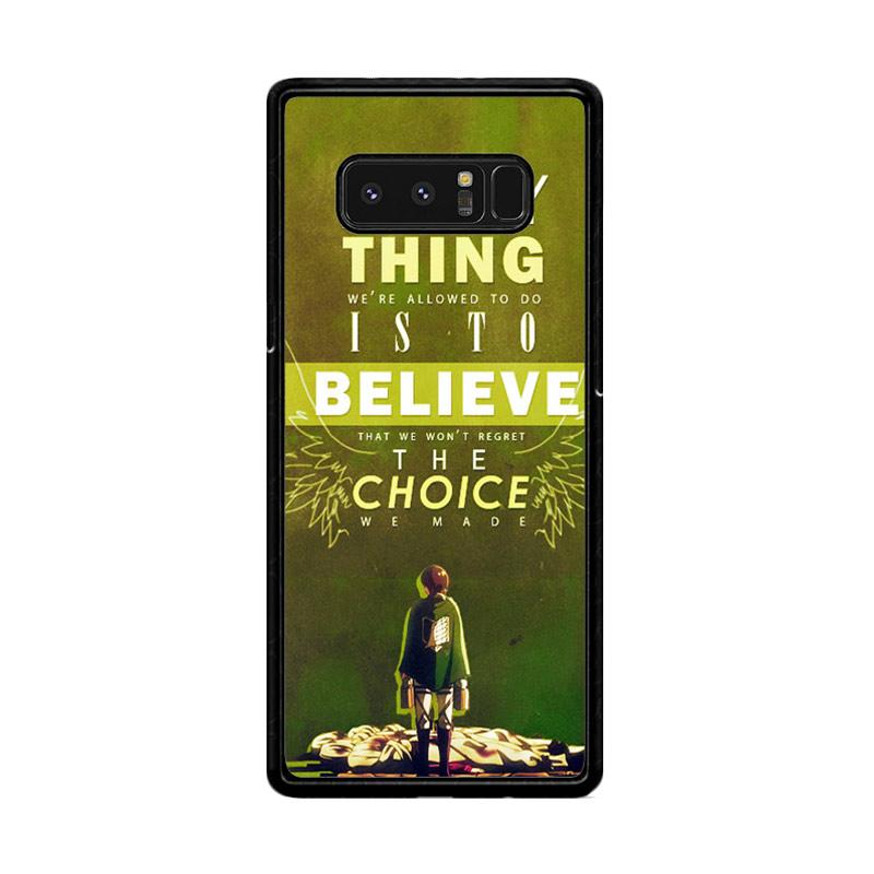 Flazzstore Attack On Titan Quotes Z1091 Custom Casing for Samsung Galaxy Note8