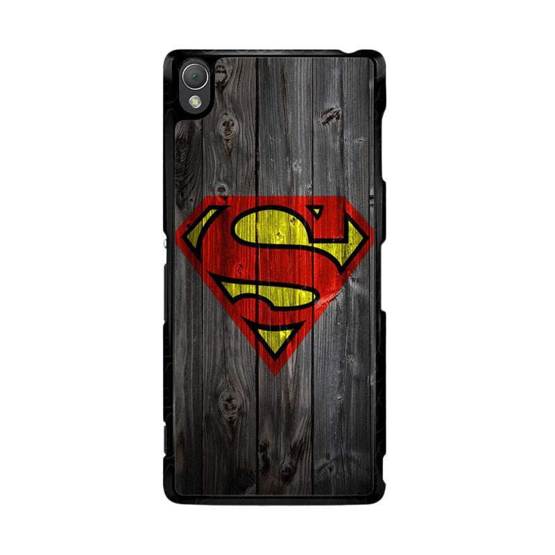 Flazzstore Wood Superman Logo 1215 F0249 Custom Casing for Sony Xperia Z3