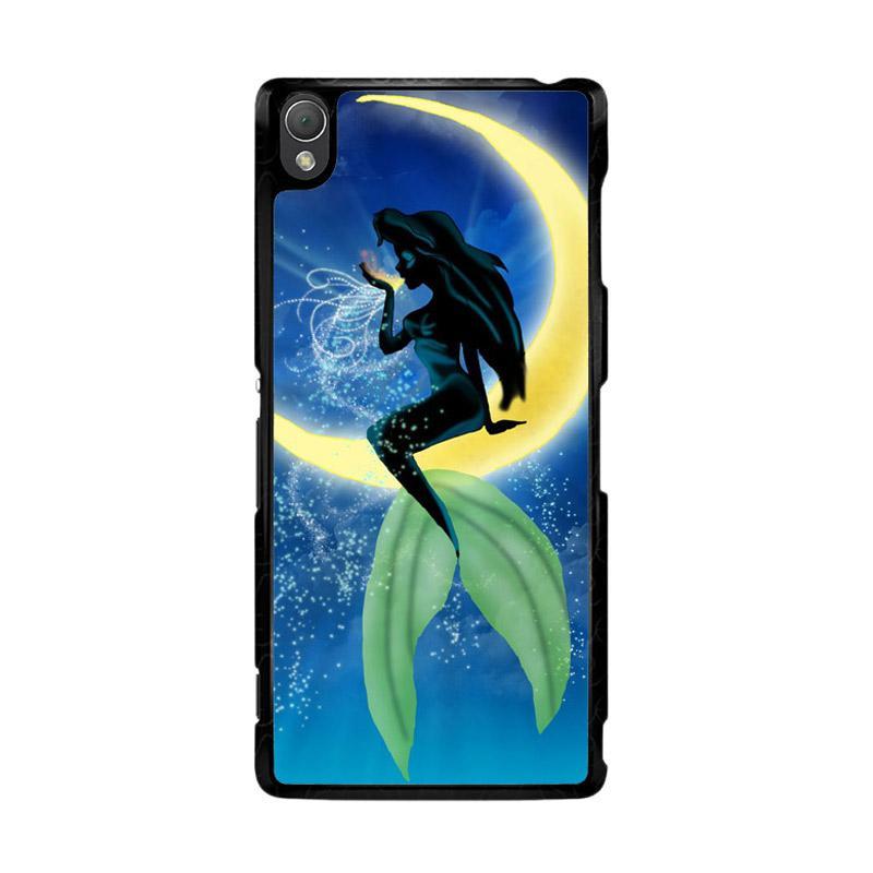 Flazzstore Disney Ariel The Little Mermaid Moon Z0722 Custom Casing for Sony Xperia Z3