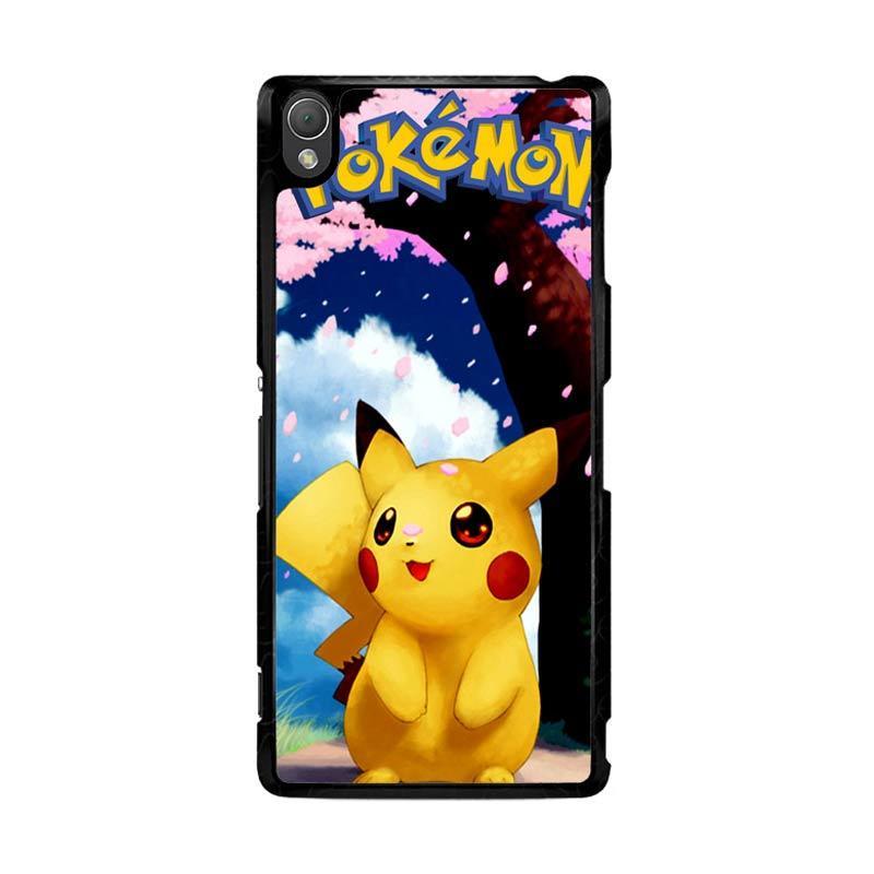 Flazzstore Awesome Sakura Sweet Pikachu Pokemon F0324 Custom Casing for Sony Xperia Z3