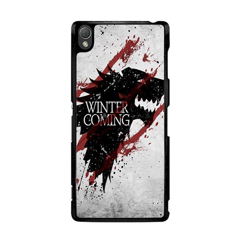 Flazzstore Winter Is Coming House Stark Logo Z0308 Custom Casing for Sony Xperia Z3