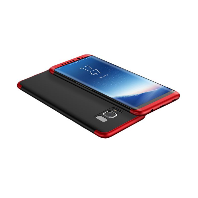 OEM 360 Full Protection 3in1 Casing for Samsung S8 - Black Red + Free Screen Protection