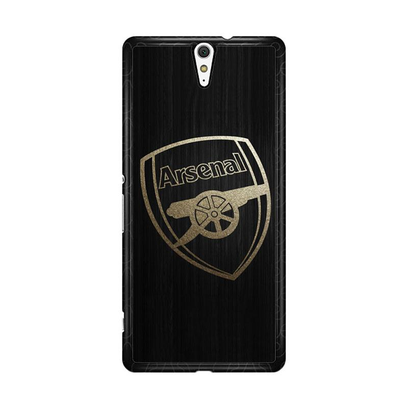 Flazzstore Arsenal Logo Gold O0487 Custom Casing for Sony Xperia C5 Ultra