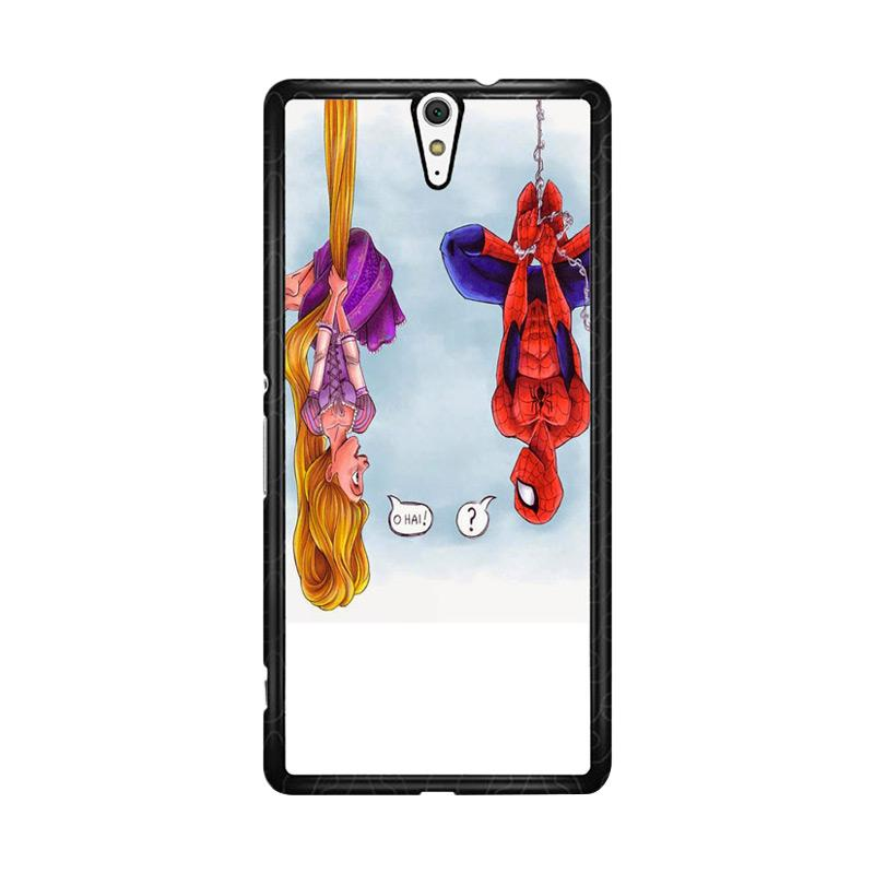 Flazzstore Disney Tangled And Spiderman F0399 Custom Casing for Sony Xperia C5 Ultra