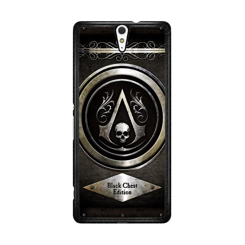 Flazzstore Assassins Creed Black Flag Logo Z0067 Custom Casing for Sony Xperia C5 Ultra