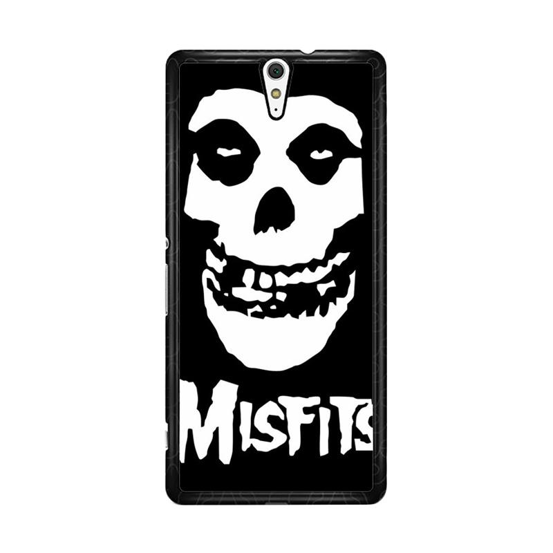 Flazzstore Horror Punk Rock Band Misfits Skull Z0506 Custom Casing for Sony Xperia C5 Ultra