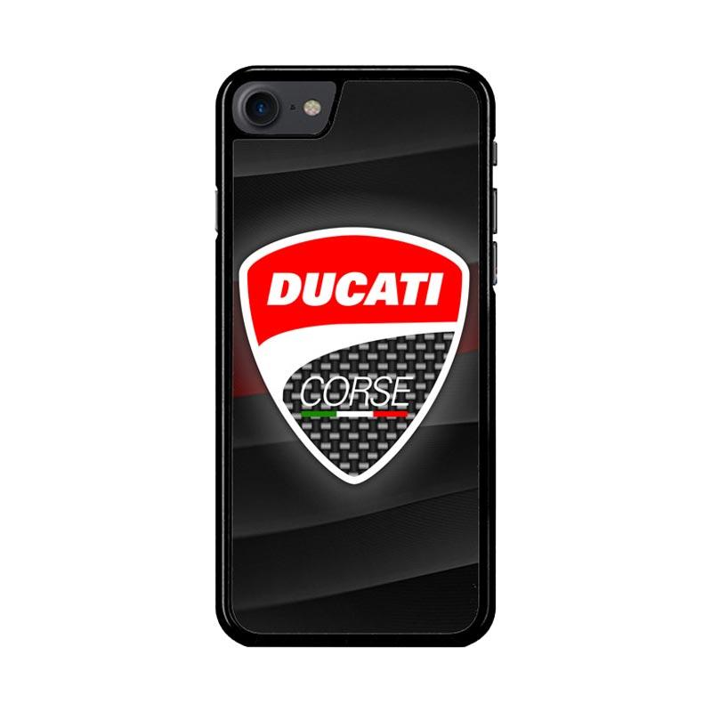 Flazzstore Ducati Corse Logo Z3276 Custom Casing for iPhone 7 or 8