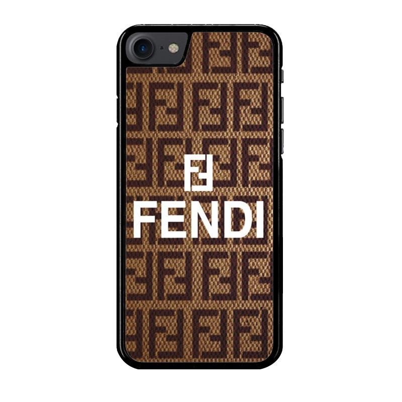 Flazzstore Fendi Brown Z3923 Custom Casing for iPhone 7 or 8