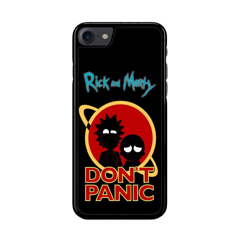 Flazzstore Rick And Morty Dont Panic Z4035 Custom Casing for iPhone 7 or 8