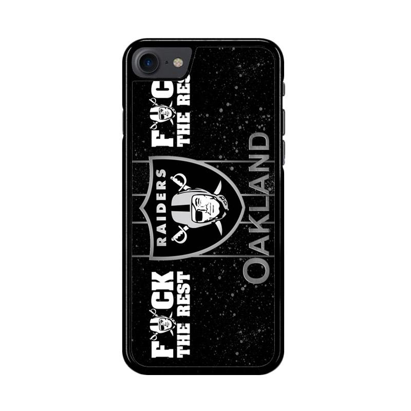 Flazzstore Oakland Raiders Logo Z4054 Custom Casing for iPhone 7 or 8