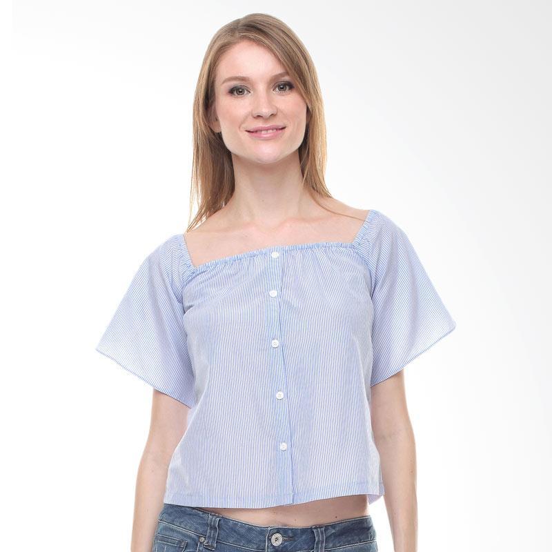 Halcyon Suzy Top in Atasan Wanita - Blue White Stripes