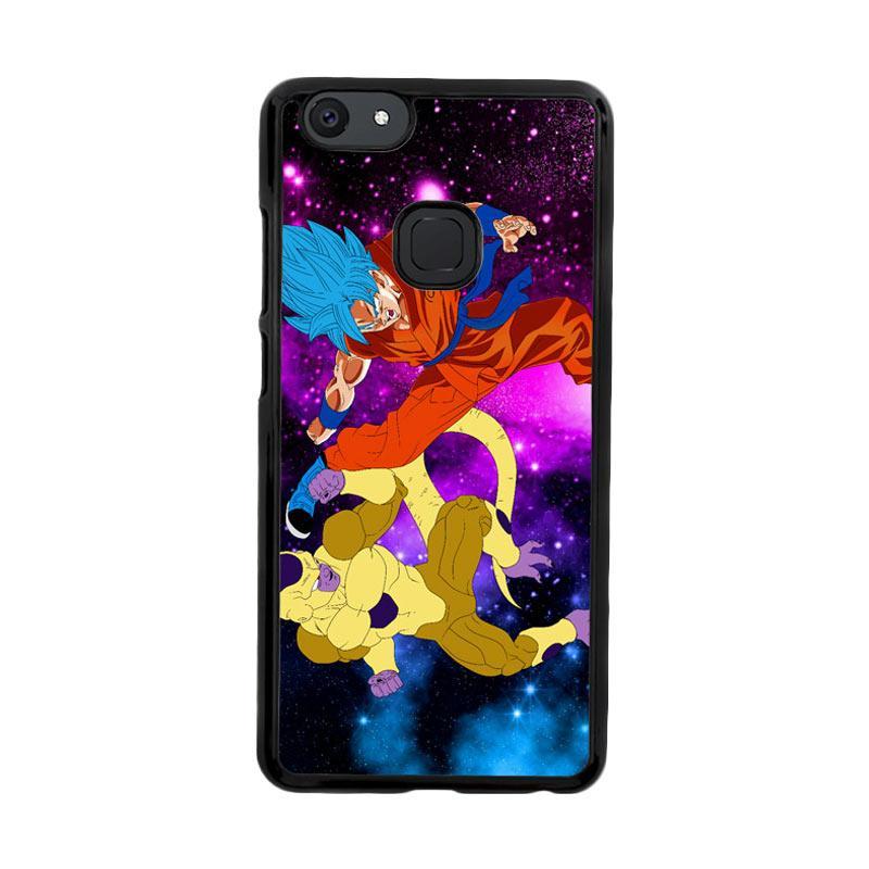 Flazzstore Gold Frieza Vs Goku Super Saiyan God Z2615 Custom Casing for Vivo V7 Plus