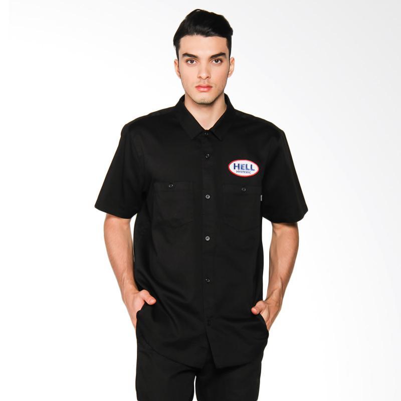Supreme New York Hysteric Glamour S/S Work Shirt Kemeja Pria - Black