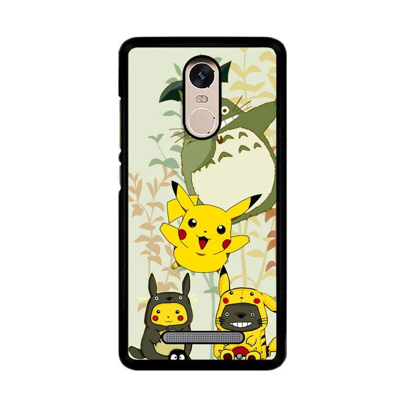 Flazzstore Totoro Love Pikachu Pokemon Z3271 Custom Casing for Xiaomi Redmi Note 3 or Note 3 Pro