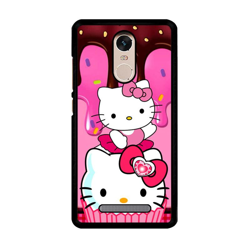 Flazzstore Hello Kitty Cute Z3336 Custom Casing for Xiaomi Redmi Note 3 or Note 3 Pro