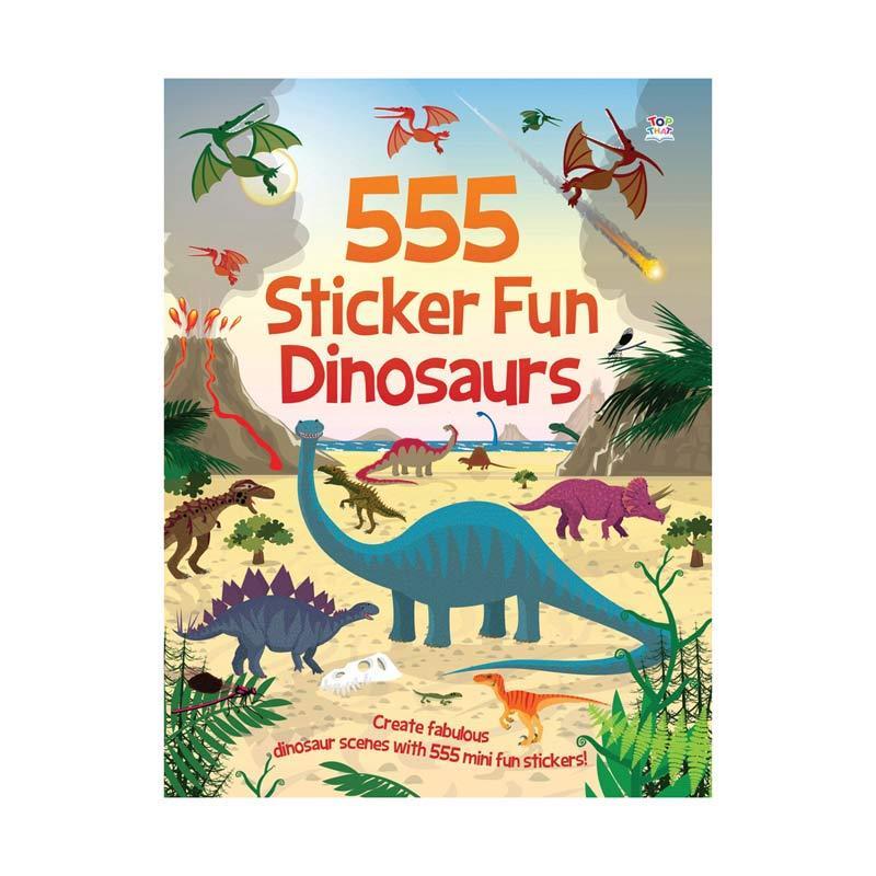 Genius 555 Sticker Fun Dinosaurs Sticker Book