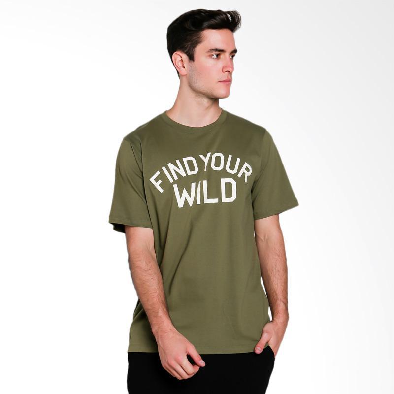 Hypestore Find Your Wild T-Shirt Pria [3217-3863]