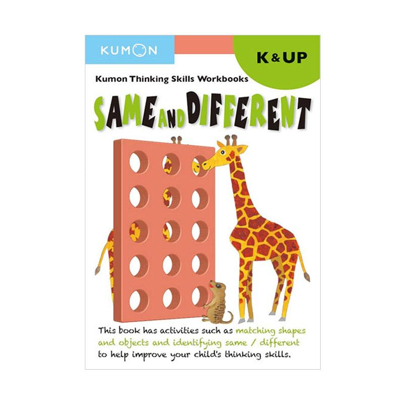 Genius Kumon Thinking Skill Workbooks Same and Different K&UP Buku Anak