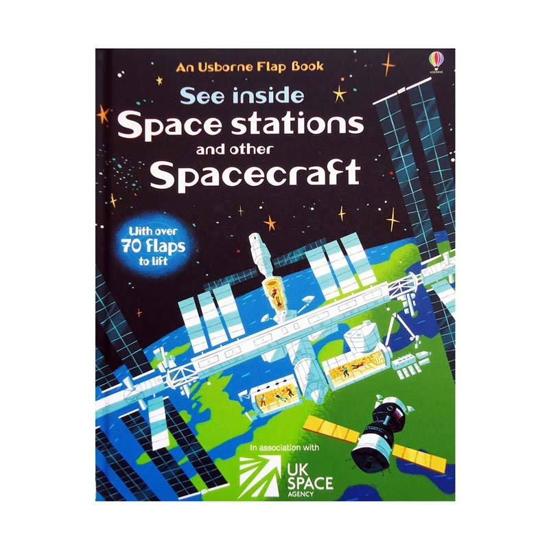 Genius An Usborne Flap Book See Inside Space stations and other Spacecraft Buku Edukasi Anak