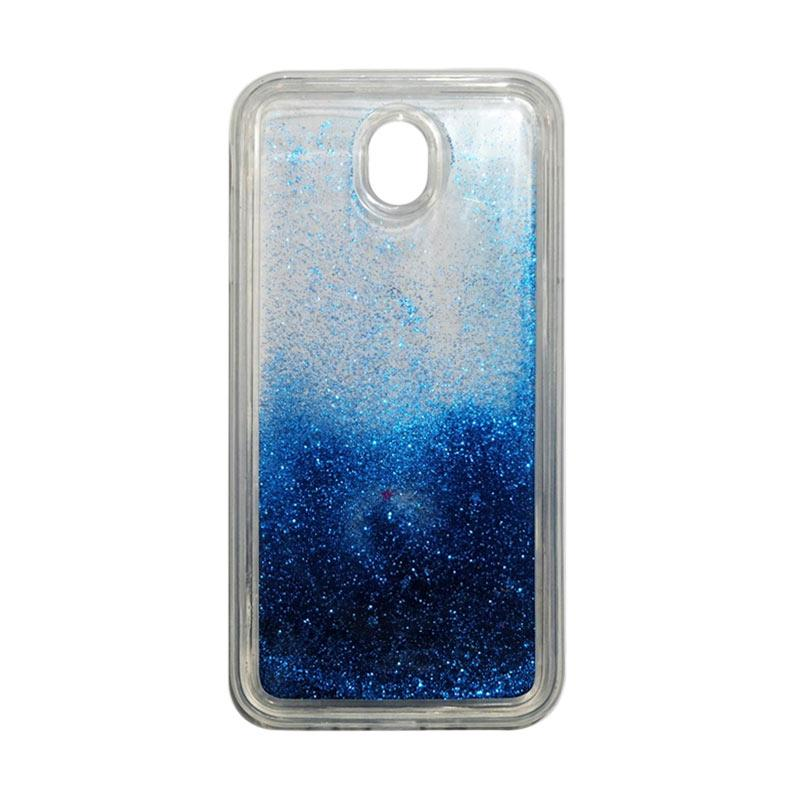 QCF Softcase Water Glitter Aquarium Silicone Casing for Samsung Galaxy J7 Pro 2017 / J730 Case Blink Blink - Biru