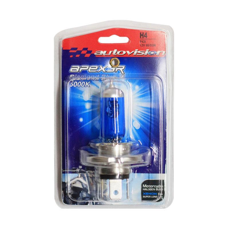 Autovision APEX MC H4 Lampu Halogen - Diamond Blue [12V 60/55W]