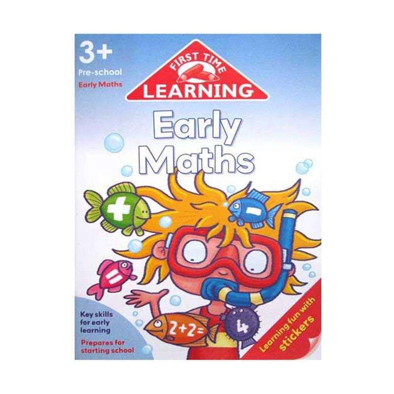 Genius First Time Learning Early Maths Workbook with Stickers Buku Anak [3 Tahun Keatas]