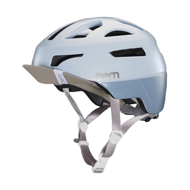 harga Bern Parker Helmet Helm Sepeda Wanita - Satin Pale Blue Blibli.com
