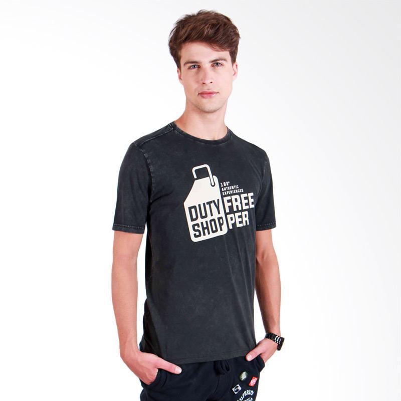 180 Degrees Duty Free T-Shirt Pria - Hitam