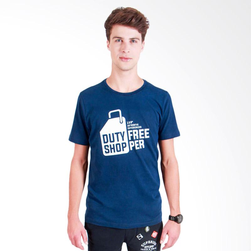 180 Degrees Duty Free T-Shirt Pria - Navy
