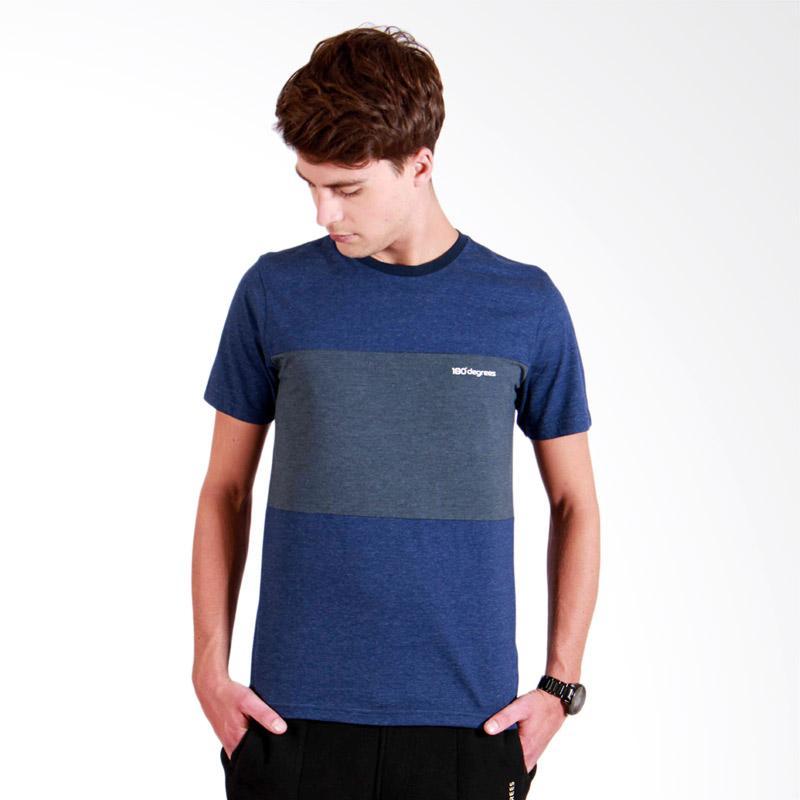 180 Degrees Twotone T-Shirt Pria - Navy