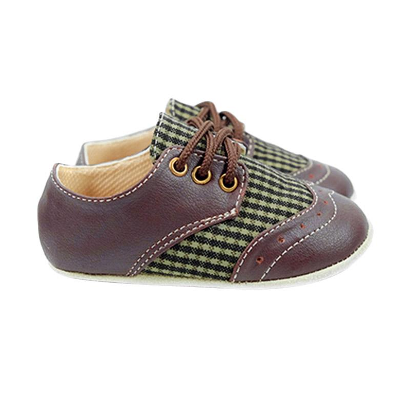 harga Hello Mici Wing Tip Prewalker Sepatu Bayi - Brown