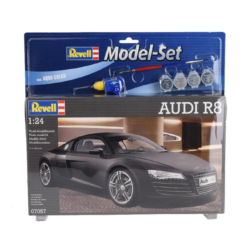 Revell Model Set Audi R8 Model Kit - Black [1:24]