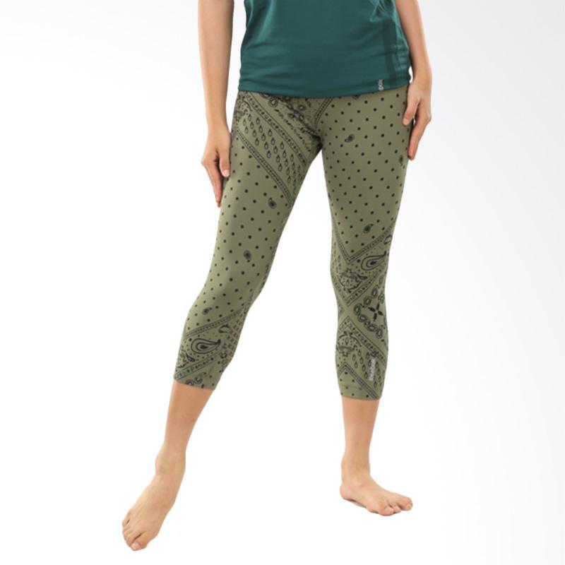 Reebok Yoga Printed Capri Celana Olahraga Wanita [BJ9766]
