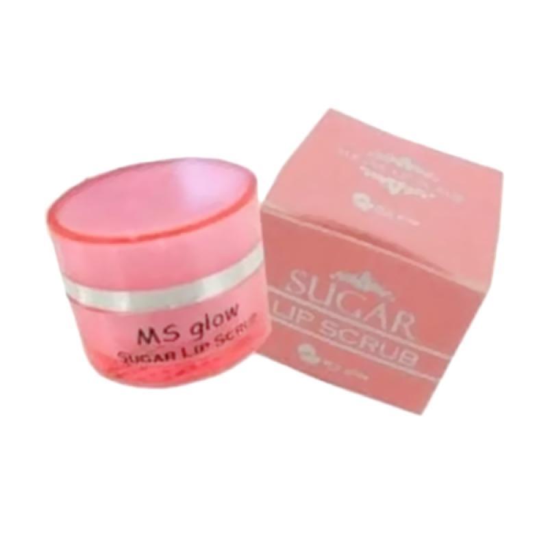 harga MS Glow Laudy Store Sugar Lip Scrub Pemerah Bibir Alami Blibli.com