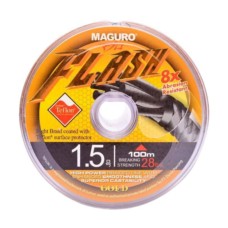 harga Maguro Flash Gold PE Senar Pancing [100 Meter / Size 1.5 / 28 lbs] Blibli.com