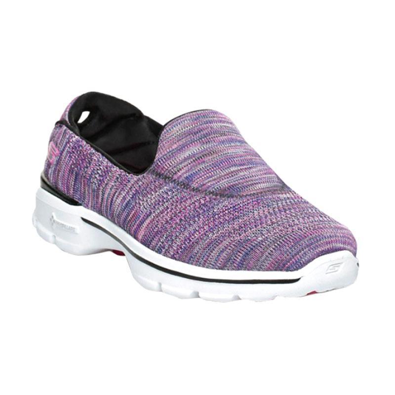Skechers Go Walk 3 Fitknit Extreme Sepatu Olahraga Wanita - Purple [13987BKMT]