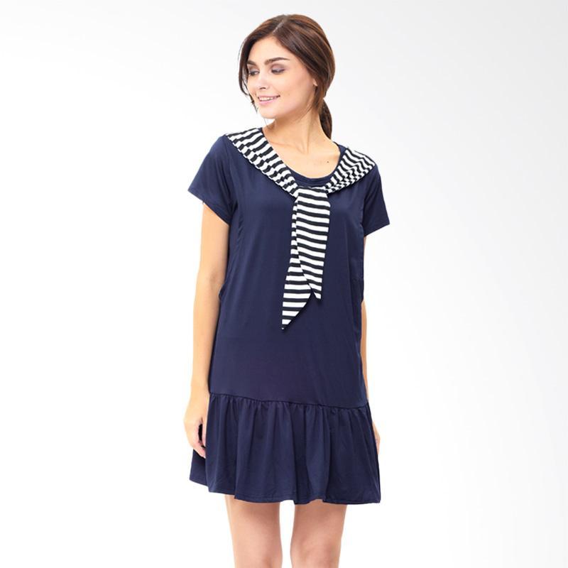 harga Mooimom Navy Sailor Collar Nursing Dress Baju Hamil Menyusui - Navy Blibli.com