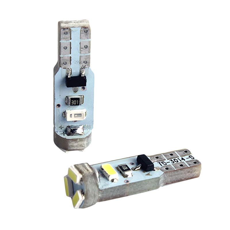 harga JMS T5 PCB 5 SMD 3014 Lampu LED Speedometer Dashboard Mobil or Motor - White [1 pair/2 pcs] Blibli.com