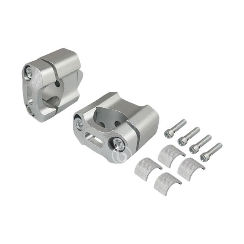 harga CNC Multi Raiser Dudukan Peninggi Stang for Honda New Mega Pro - Silver [22mm dan 28mm] Blibli.com