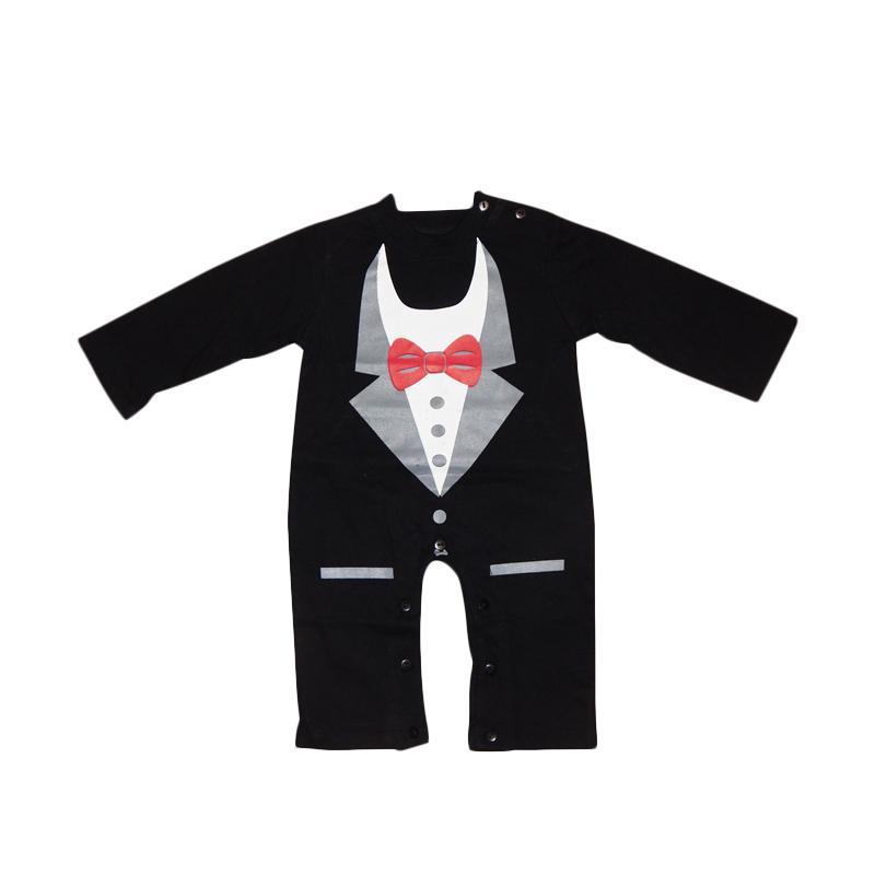 Wonderland Amiel Tuxedo Printed Baby Romper Baju Jumpsuit