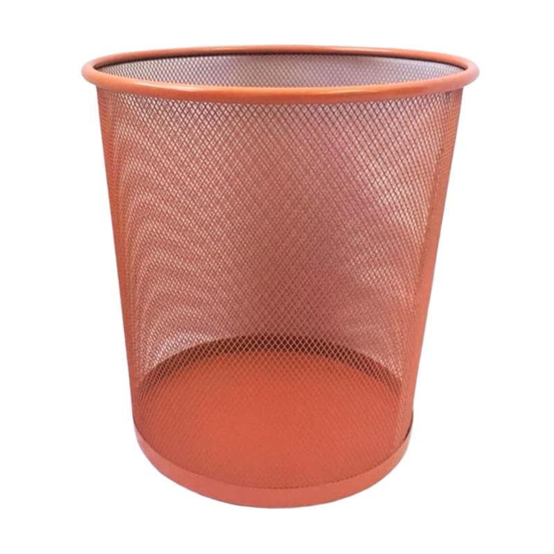 SOHO Besi Jaring Anyaman Tempat Sampah - Orange