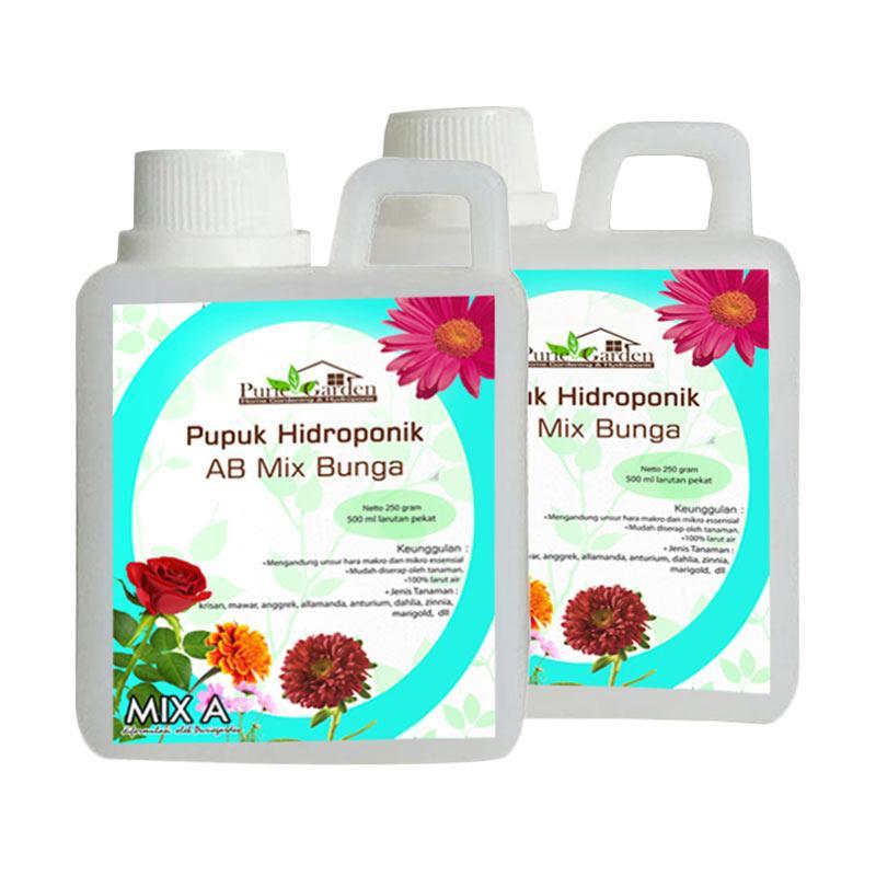 Puriegarden Ab Mix Bunga Nutrisi Hidroponik Pupuk 250 G