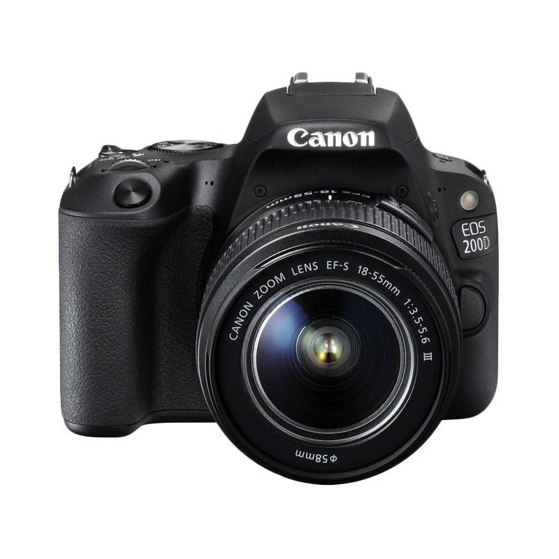 harga Canon EOS 200D EF-S 18-55 III Kit WiFi 24 MP Sensor APS-C CMOS DIGIC 7 Kamera DSLR - Hitam - Free Screenguard Terpasang | Ladang Blibli.com