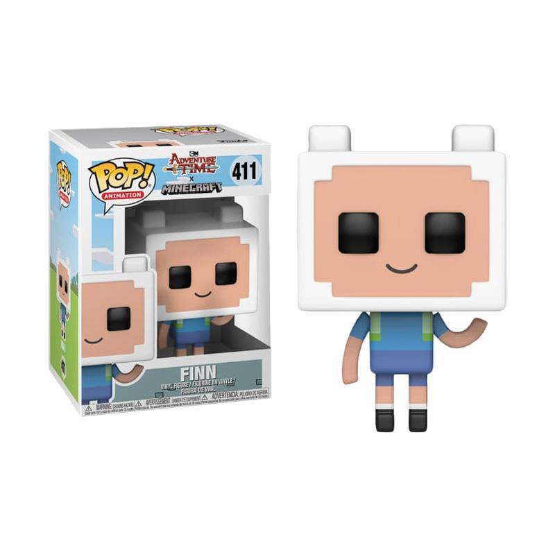 Animation-Adventure Time X Minecraft FINN Figure #411 en stock Funko Pop