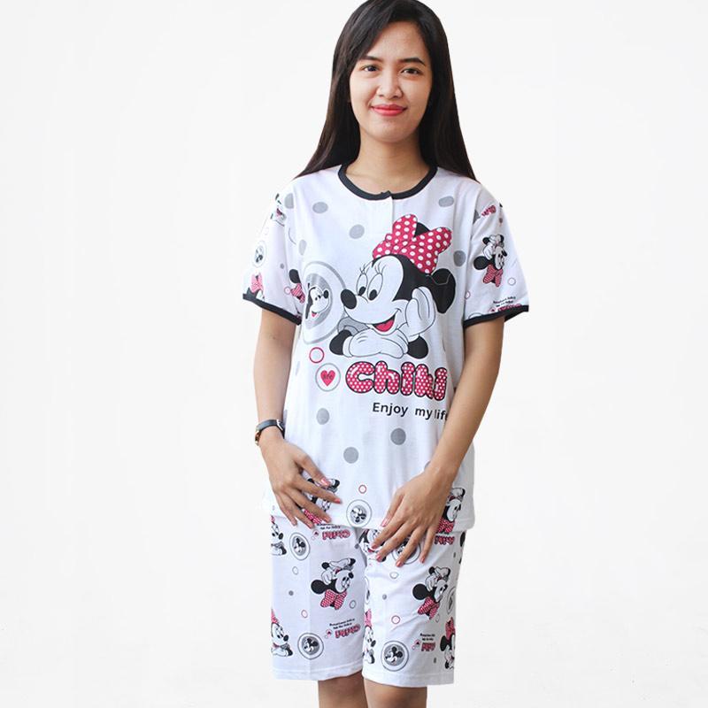 Jual Aily IR05 Motif Mickey Mouse Setelan Piyama Baju Tidur Wanita Online - Harga & Kualitas Terjamin   Blibli.com